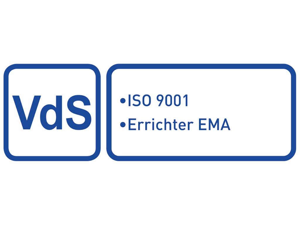 VdS ISO 9001 Errichter EMEA