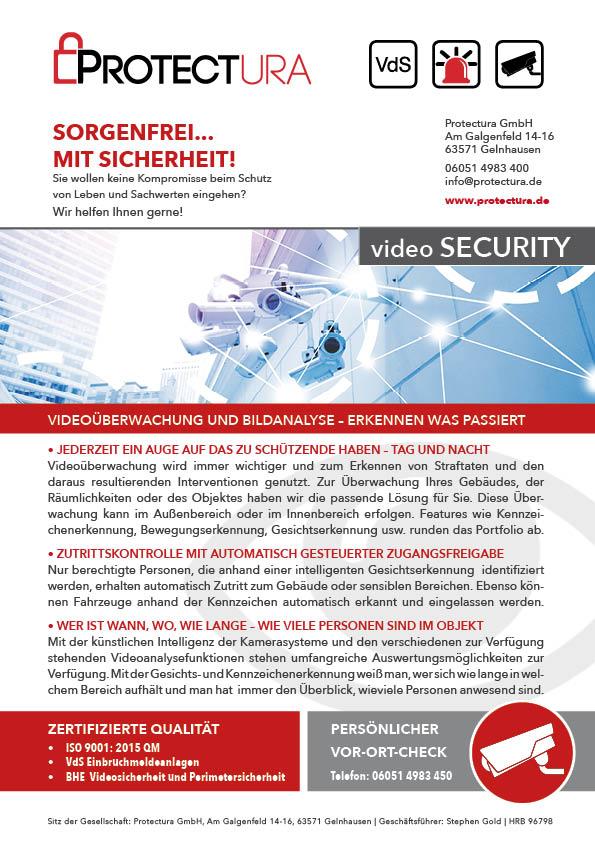 Protectura videoSECURITY Kameraüberwachung Videoanalyse